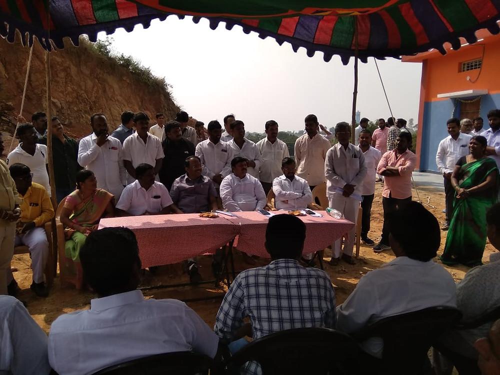 ST community hall inaguration in Shankarayapally thanda on thursday
