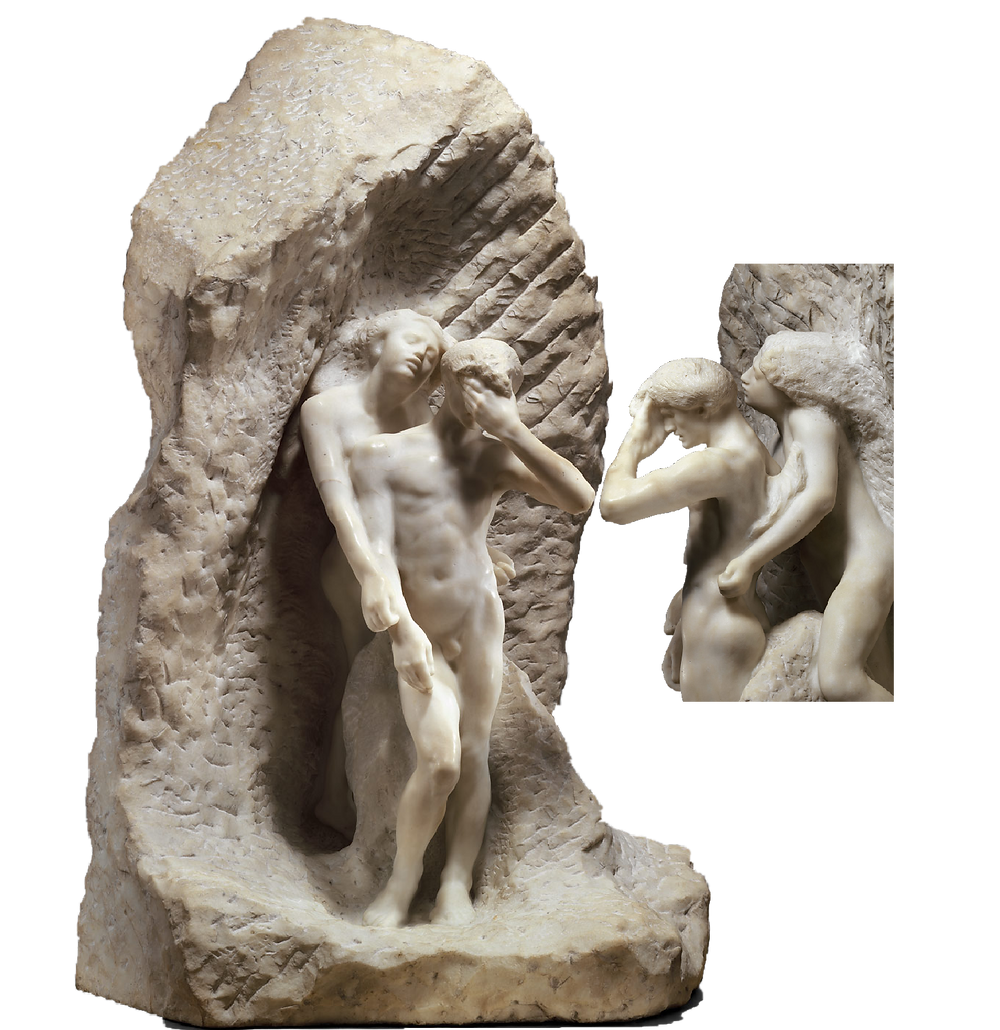 Auguste Rodin, Orpheus and Eurydice, 1893