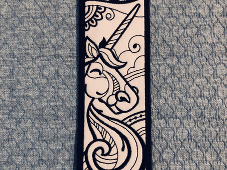 Zen Unicorn Bookmark