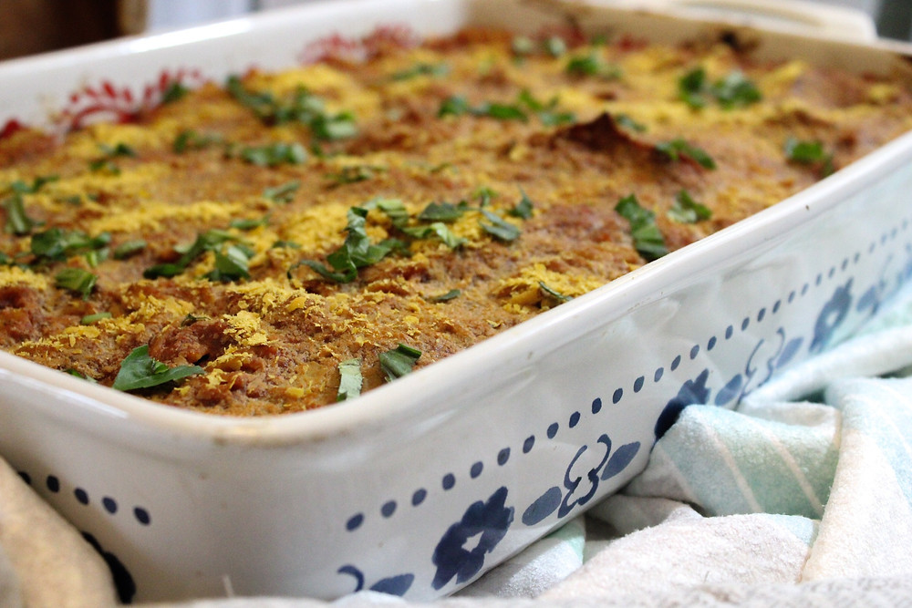 vegan ricotta pasta bake