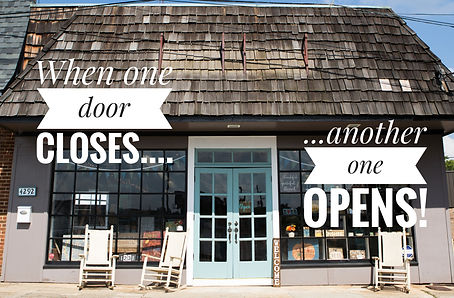 When one door closes... ... another one opens! - store front