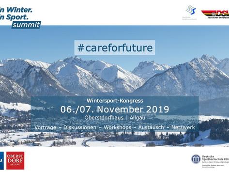 #careforfuture: Dein Winter. Dein Sport. Summit, 06. & 07. November 2019 in Oberstdorf