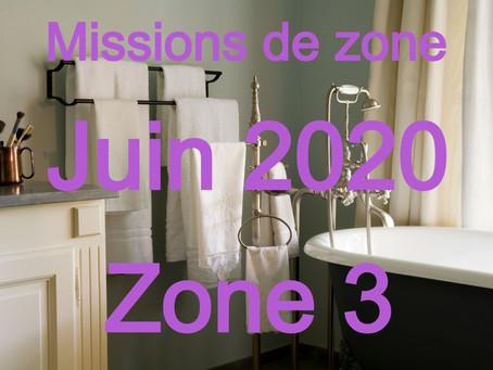 Zones : Missions semaine 25 - Zone 3