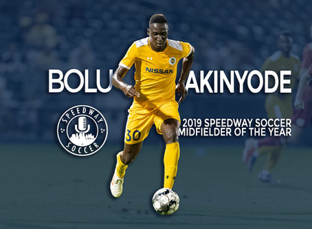 Bolu Akinyode Named 2019 Speedway Soccer Midfielder Of The Year
