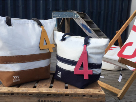 727 SAILBAGS: bags made from recycled boat sails.