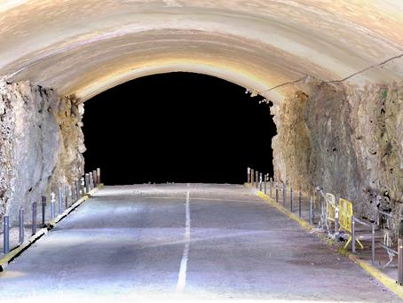 Escaneo láser de túnel zona de Garraf