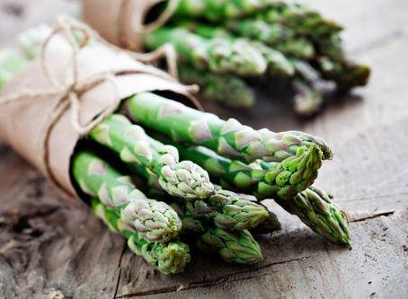 Asparagus with Garlic Scape Dressing