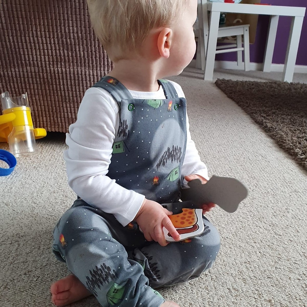 Dungarees and rompers for children