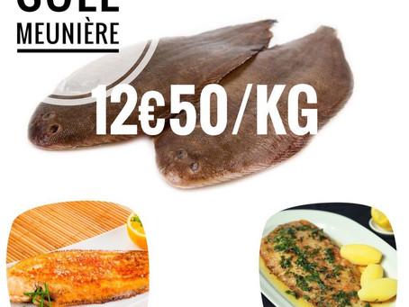 📣 Sole Meunière 12€50Kg