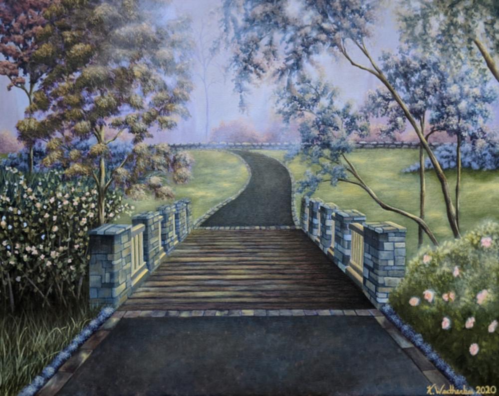"16"" x 20"" acrylic painting by artist Kari Weatherbee"