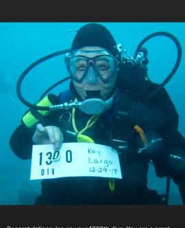Milestone HIT - Jan's 1300th Dive