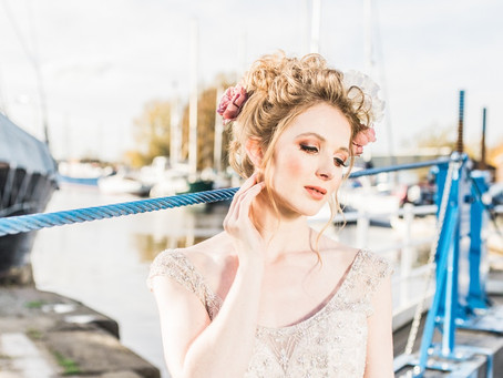 Outdoor Wedding on British Canal Boat