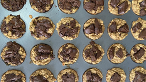 Banana & Chocolate Protein Muffins (GF)  (Dairy Free) (Low in Sugar)