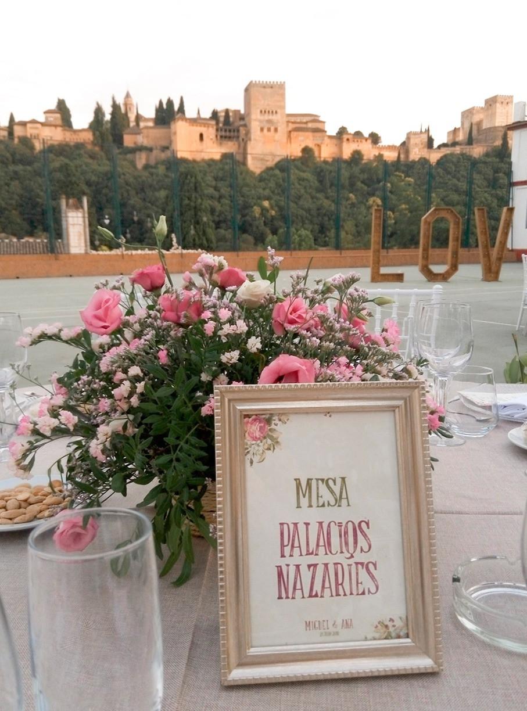 mesero alhambra centro mesa