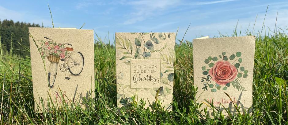 NEU: Kartenserie aus ökologischem Graspapier