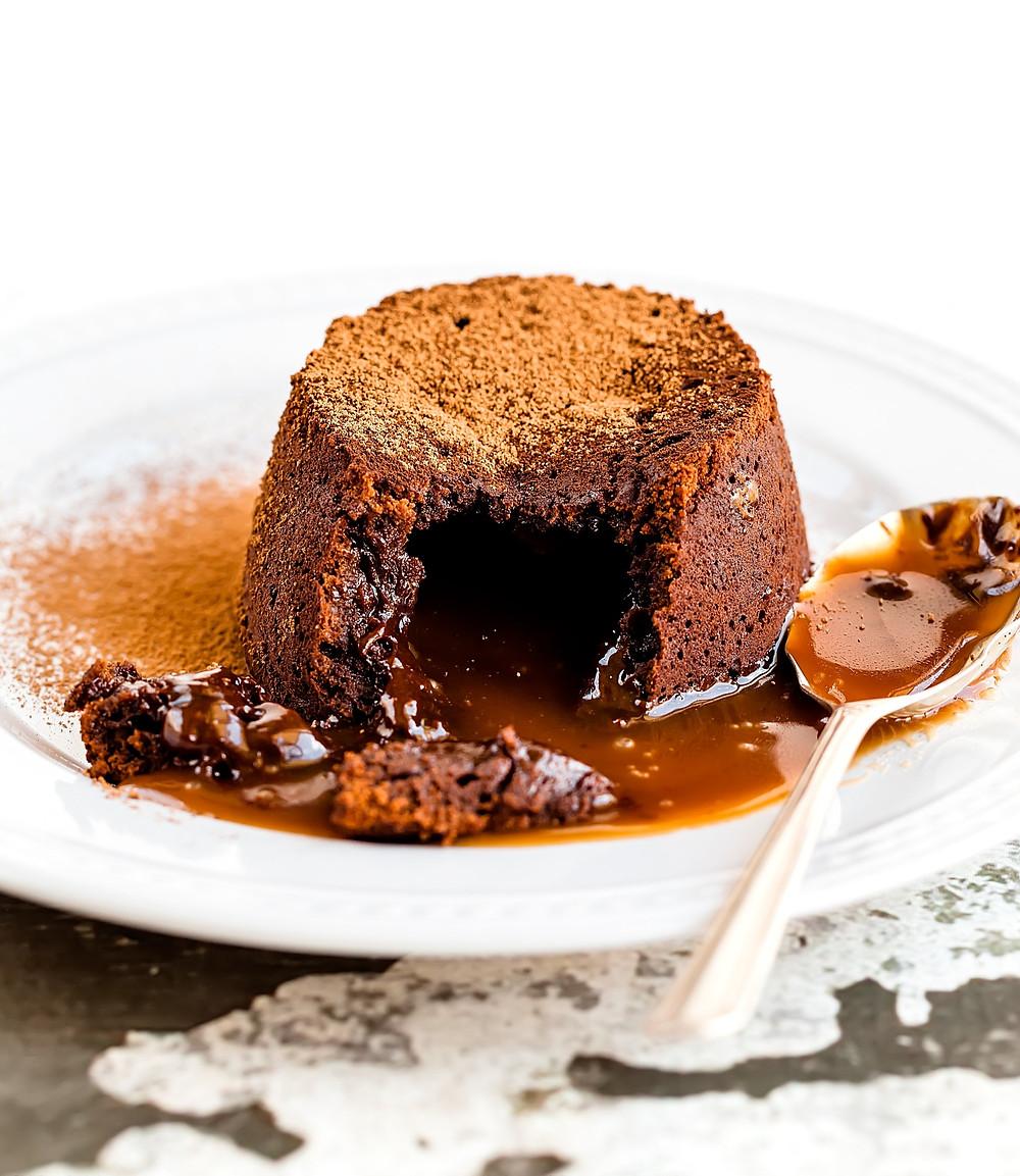 lava cake, šokoladinis suflė, Verdu ir kepu