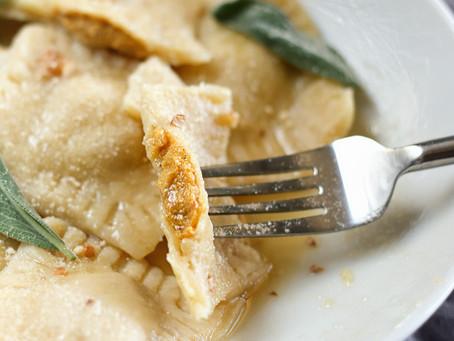 Simple Vegan Pasta Dough & Butternut Squash Ravioli Recipe
