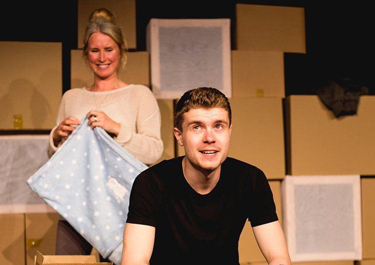 Kate Hampson and Jake Henderson in Not Yours, Mine at Oldham Coliseum