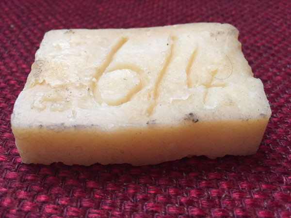 Soap from the first batch made in December 2016