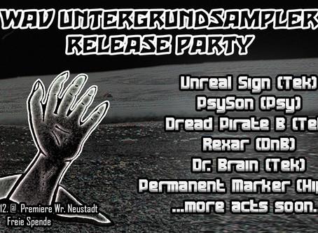 WAV Untergrundsampler Release-Party