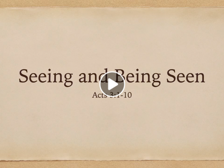 Seeing and Being Seen (Video) - Matt Allen