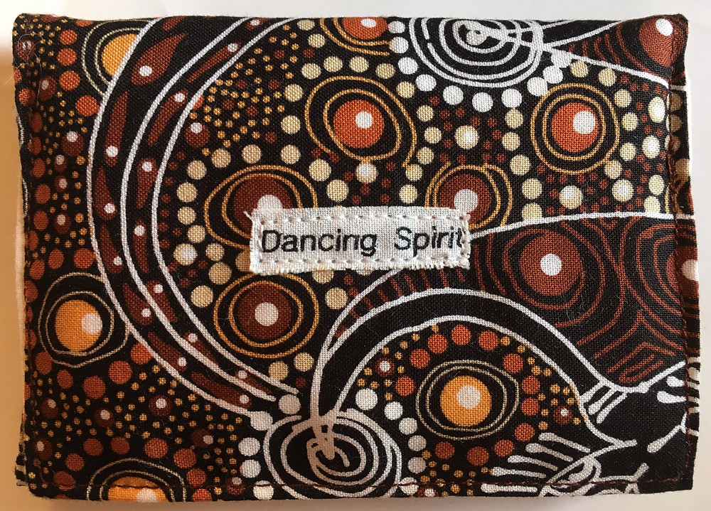 Fabric from Australia, assured the Indigenous aborigine people were paid well to design it. I hope so!!
