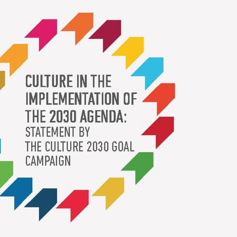 Culture 2030 Goal Covid-19 Statement
