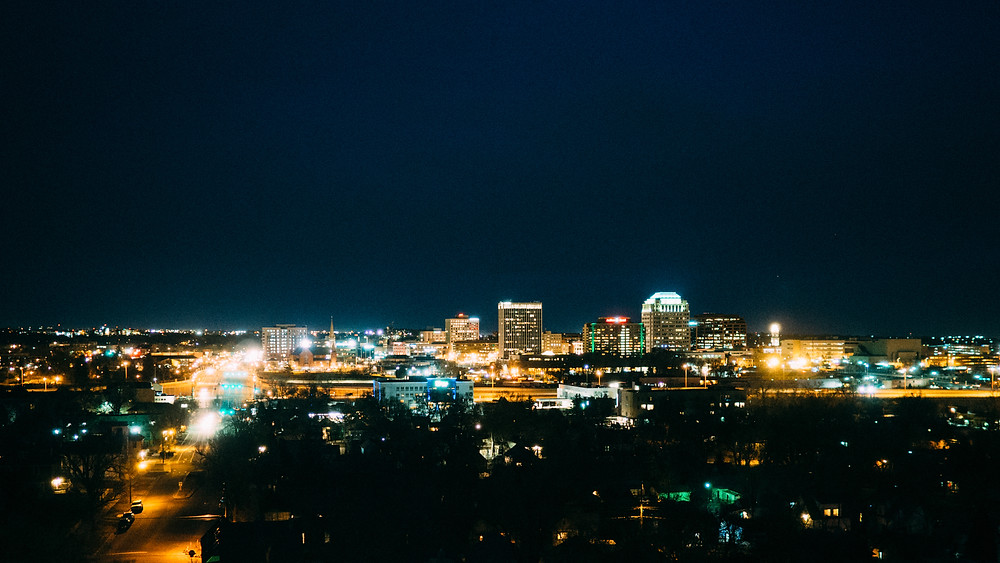 Colorado Springs skyline at night