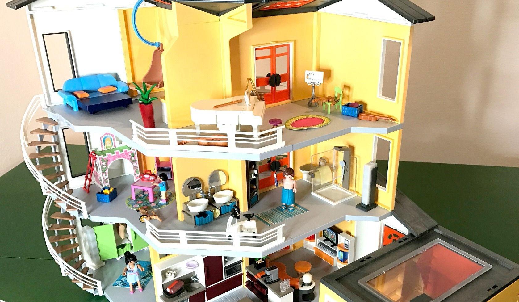 Playmobil - Modernes Wohnhaus + Einrichtung und Ergänzungen City ...