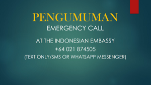 EMERGENCY CALL FOR INDONESIAN IN NZ