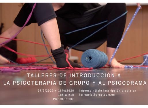 Taller de introducción a la psicoterapia de grupo y al psicodrama, en Barcelona