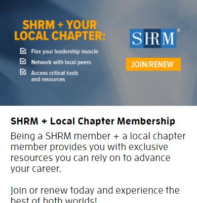 SHRM Membership Means HRACO Membership