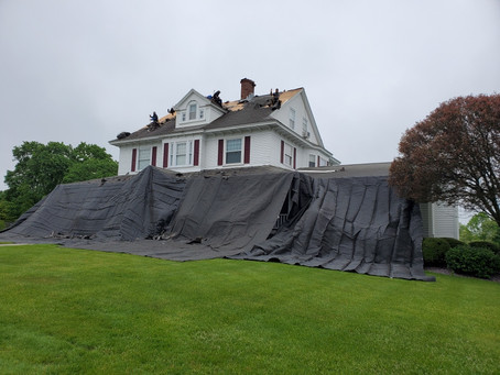 Heavy Duty Debris Tarps.  Designed by Snow's Supply to perform the best for contractors roofing.
