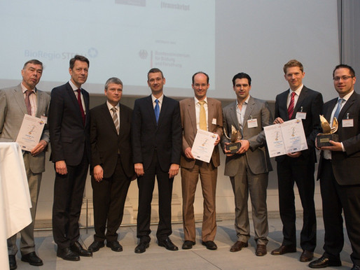 SenseUp awarded with the Innovation Award of BioRegions in Germany