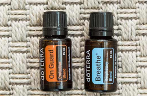 On Guard and Breathe Essential Oil Blends 15 mL bottles