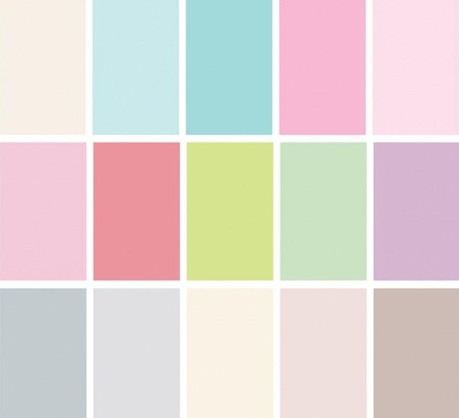 Pastellivärit syntyvät, kun väriin lisätään valkoista.