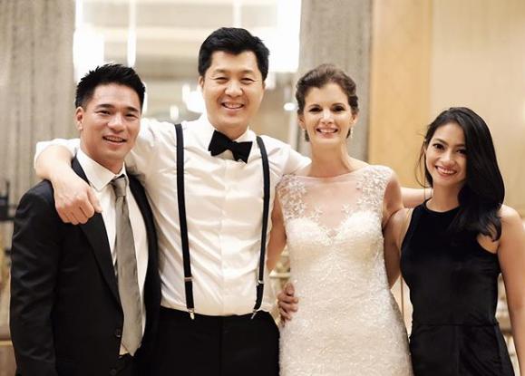 Juni 2017. Rini Yulianti bersama suami, Michael Ha, di pernikahan teman di The Ritz-Carlton New York.  #RiniBabyJourney #jurnalRIN