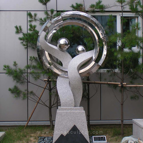 Stone, Stainless Steel 316 / Artworks Designed by South Korean Artist