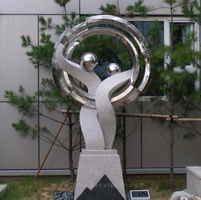 Stone, Stainless Steel 316 / Artworks Designed by South Korean Artist