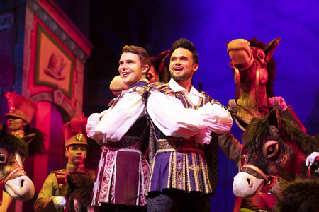 Jack Wilcox as Dandini and Gareth Gates as Prince Charming