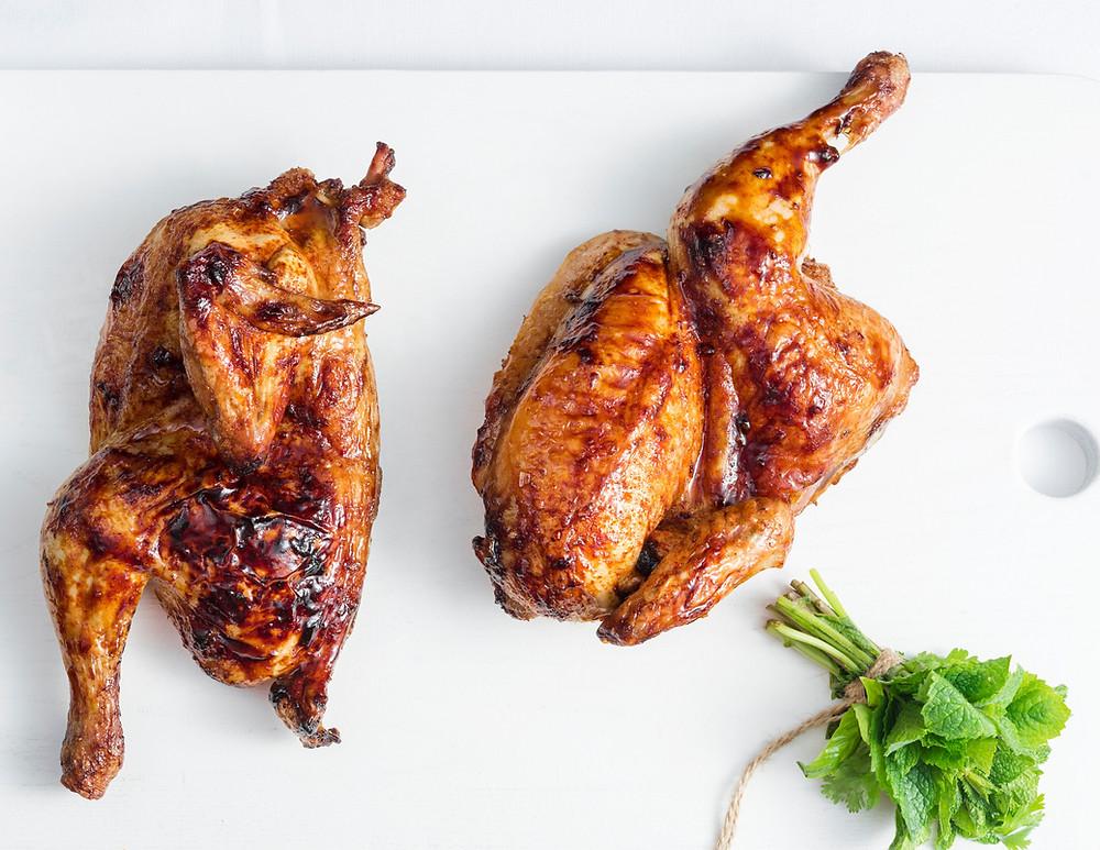 Keptas viščiukas, sultingas viščiukas, Alfo receptai, patarimai, kaip kepti viščiuką.