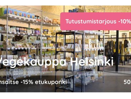 Vegekaupan tutustumistarjous -10%
