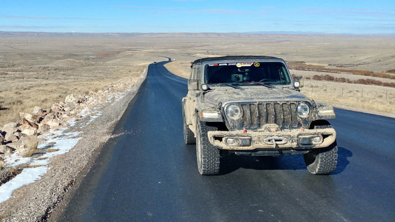 Jonathon Ramsey drove a Jeep Wrangler Rubicon on a 14-week, 14,000-mile journey across North America.