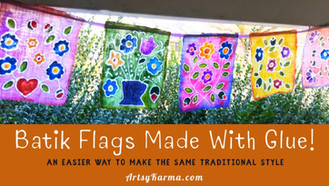 How to Make Batik Style Prayer Flags Using Glue