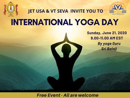 International Yoga Day Celebration by JET USA and VT Seva