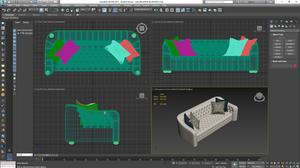 Modelo 3D de sofá, 3D Sky