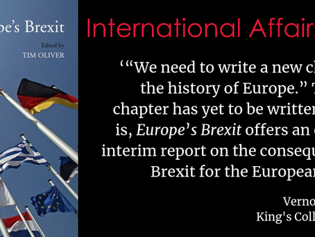 Europe's Brexit in International Affairs top 5 books for December