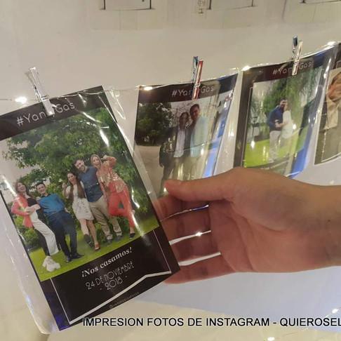 El #Instaprint en la boda de Yas & Gas