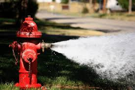 Hooker Water Dept. testing fire hydrants