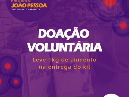 DOAÇÃO VOLUNTÁRIA DE 1KG DE ALIMENTO NA ENTREGA DE KIT